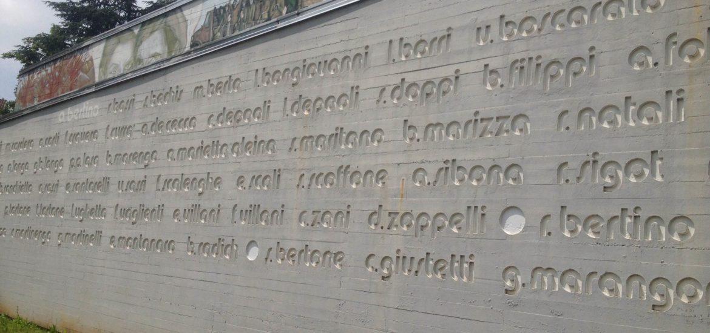 monumento martiri di Grugliasco ripristinato